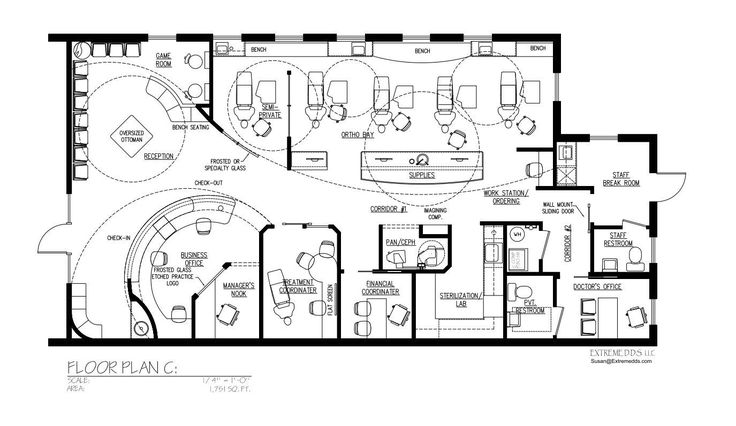 Dental office floor plans orthodontic and pediatric dent rio pinterest office floor plan for Orthodontic office design floor plan