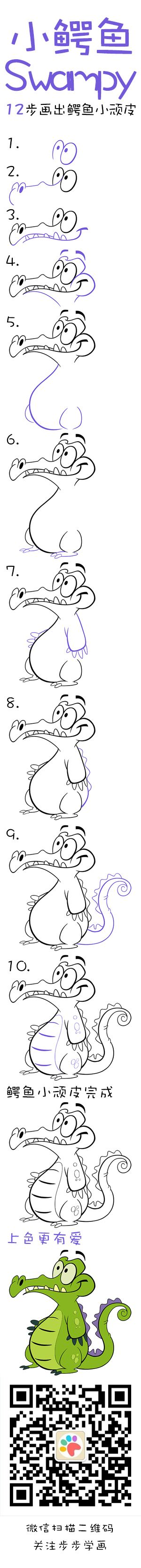 Learn How to draw Swampy