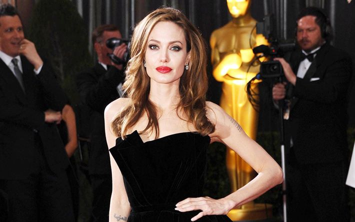 Scarica sfondi Angelina Jolie, Hollywood, l'attrice americana, stelle del cinema, bionda, bellezza