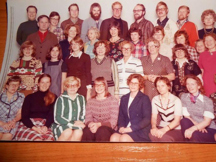 Imatran yhteislyseon opettajat 70-luvulla.