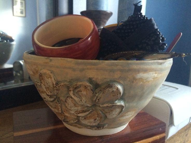 Sculptured bowl.