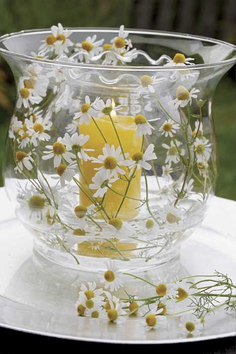Weranda Country - love the candle jar inside the bigger jar, trapping the flowers in place, very pretty.