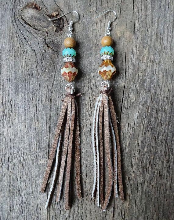 Boucles d'oreilles gypsy  boucles longues  accessoire par NanaBoho