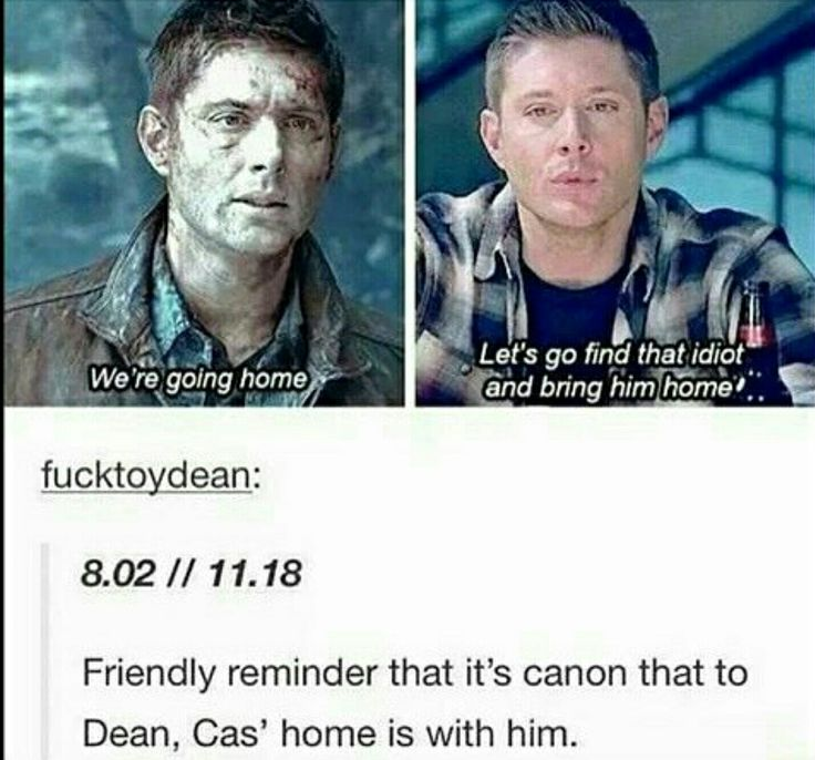 Cas is just as much a brother to Dean as Sam is.