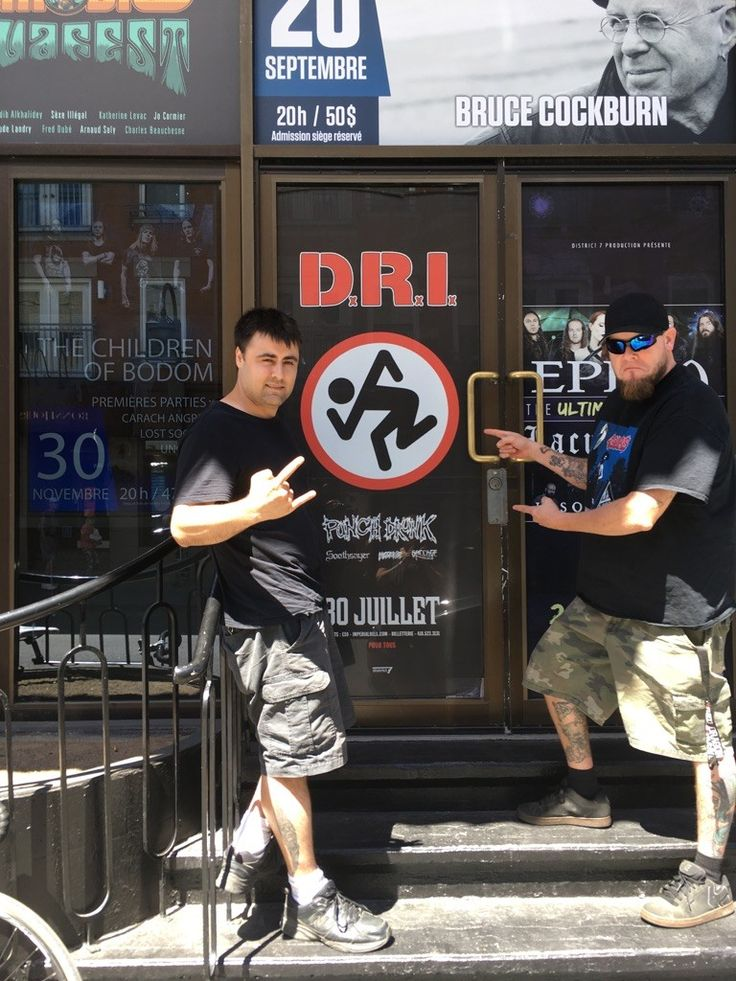 Eastern Canadian tour, Punch Drunk with D.R.I, Boneless and Vito of Punch Drunk in Montreal July 2017 in July  2017