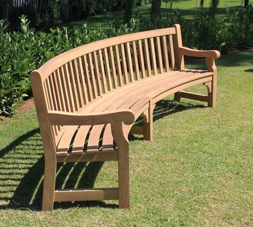 Curved Wooden Garden Bench   Google Search