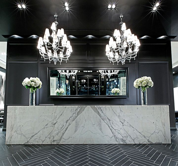 Mirror. Donato Salon + Spa Shops at Don Mills, Toronto (A.R.E Awards) store design