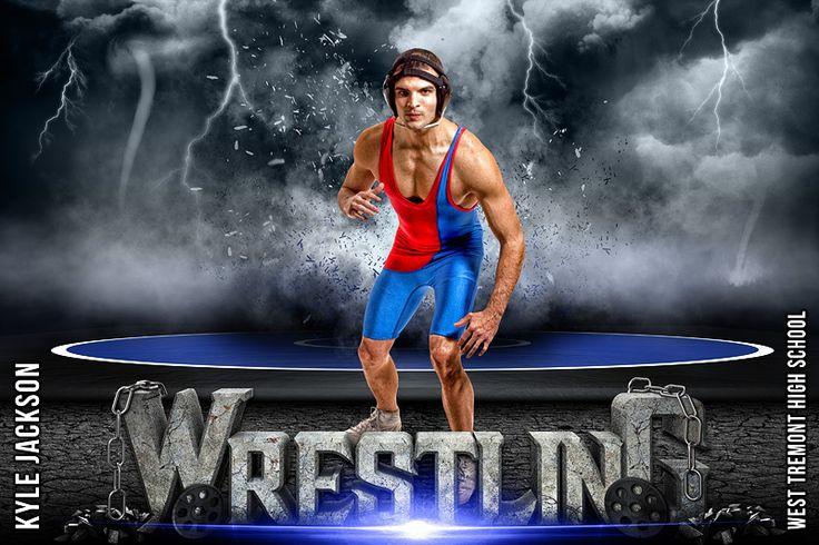 Player banner photo template wrestling destruction