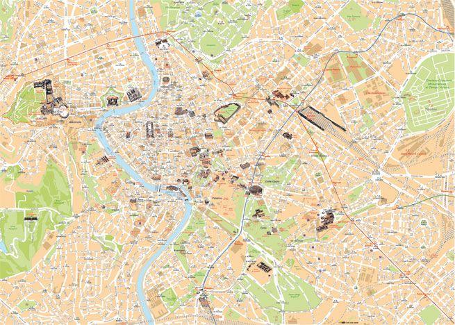 Cartina Dettagliata Roma.Piantina Di Roma Da Scaricare Ibvch Ortobotanicocogoleto It