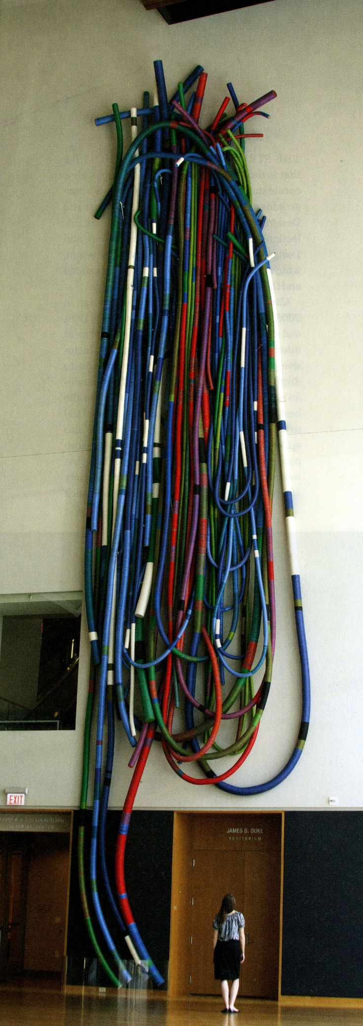 Sheila Hicks linen and cork sculpture MEGA FOOTPRINT NEAR HUTCH ( May I Have This Dance?) 2002-2003