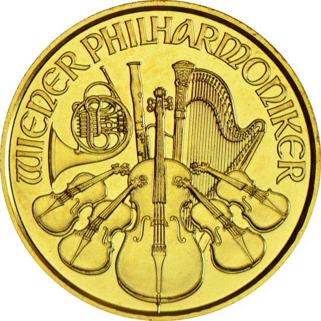 Philharmoniker 1/25 Unze Gold 2015,  9999/10000 Gold