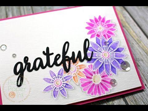 Prairie Paper & Ink: MFT Funky Flowers | Zig Clean Color Real Brush Markers | Color Throwdown #396