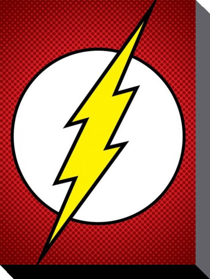 The Flash - DC Comics - The Flash Symbol - Official Canvas Print. Official Merchandise. FREE SHIPPING