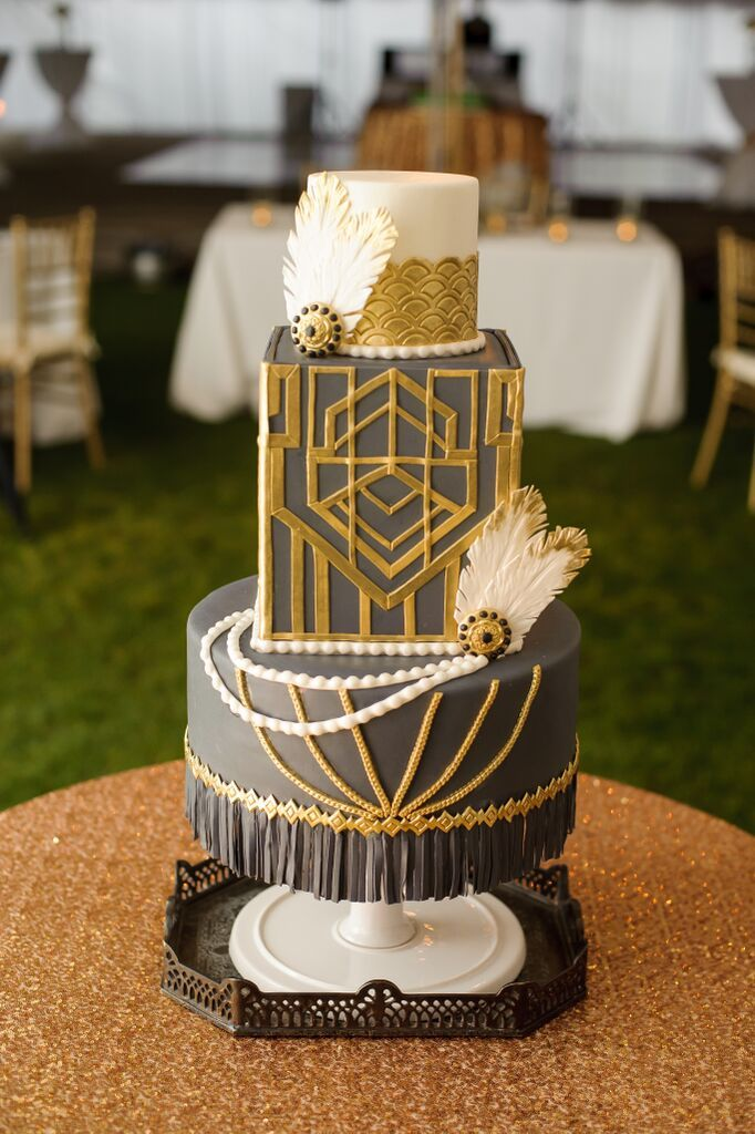Great Gatsby Wedding Cake Theme Weddings The Great Gatsby Cake
