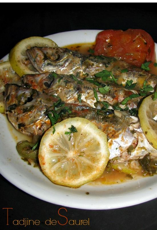 Algerian mackeral tadjine/stew