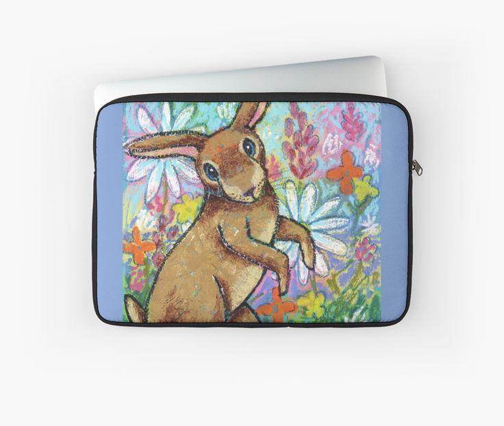 Bunny Dance laptop sleeve by Dorothy Siemens
