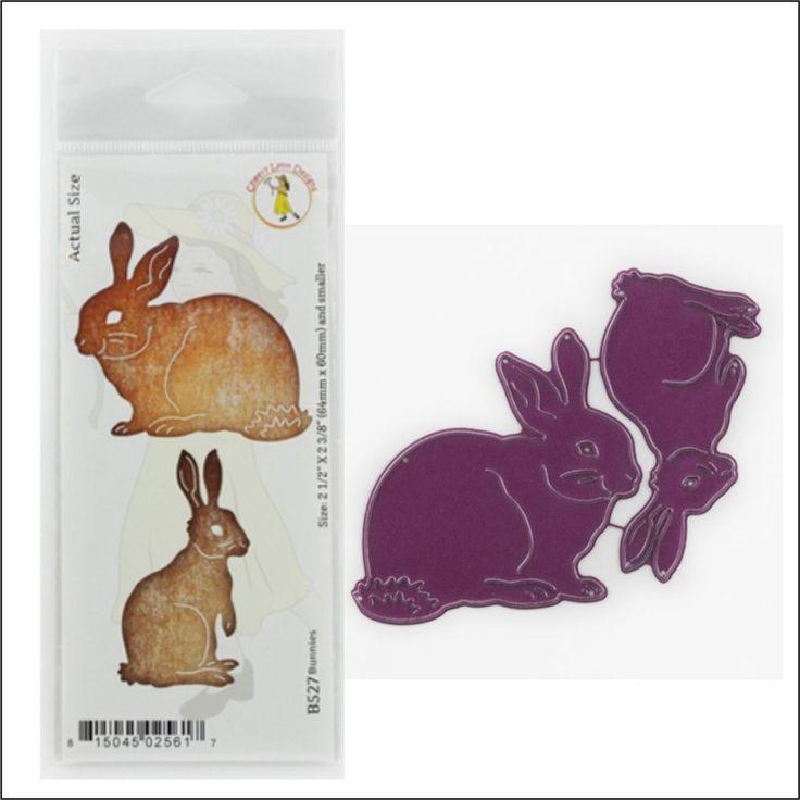 BUNNIES metal dies Cheery Lynn Designs die set B527 Easter,animals,rabbits #CheeryLynnDesigns
