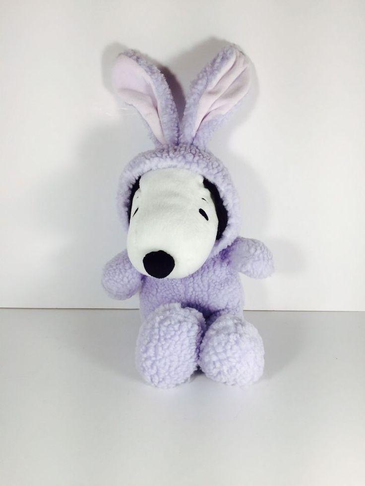 Hallmark Plush Snoopy In Purple Fuzzy Easter Bunny Suit 15 inch (PB)  | eBay