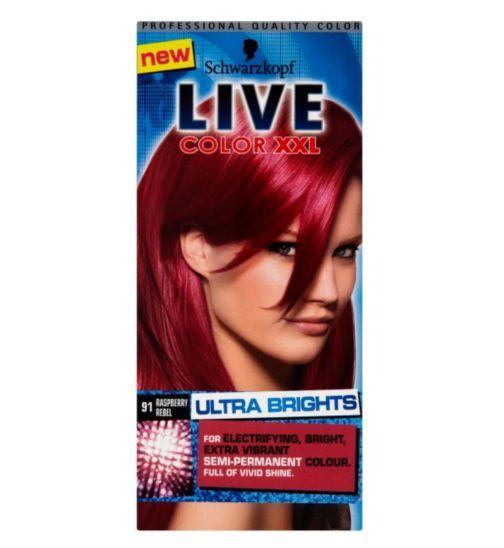 schwarzkopf live color xxl ultra brights 91 raspberry rebel semi permanent boots - Schwarzkopf Coloration Semi Permanente