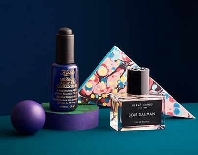 Cosmetic, Beauty Still Life with marbling