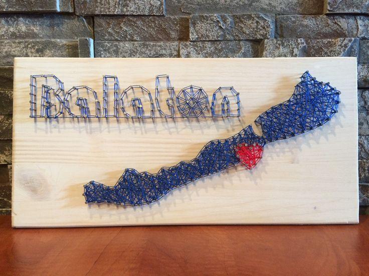 String Art - Balaton - DIY - Balatonföldvár - Heart