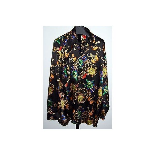 Coogi Australia Embroidered Men's Silk 6xl Multicolored Casual Shirt ❤ liked on Polyvore featuring men's fashion, men's clothing, men's shirts, men's casual shirts, mens clothing, mens embroidered shirts, mens silk shirt, men's apparel and colorful mens dress shirts