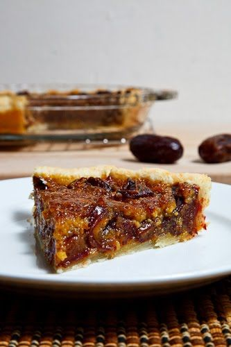 Date Pecan Pie - wonder if I can convert the brown sugar and corn syrup to coconut sugar and agave...