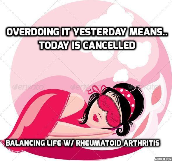 Life with an autoimmune arthritis