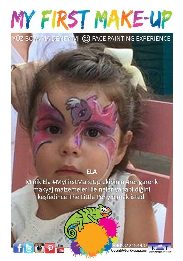 ELA  Minik Ela #MyFirstMakeUp ekibinin #rengarenk makyaj malzemeleri ile neler yapabildiğini keşfedince The Little Pony olmak istedi.