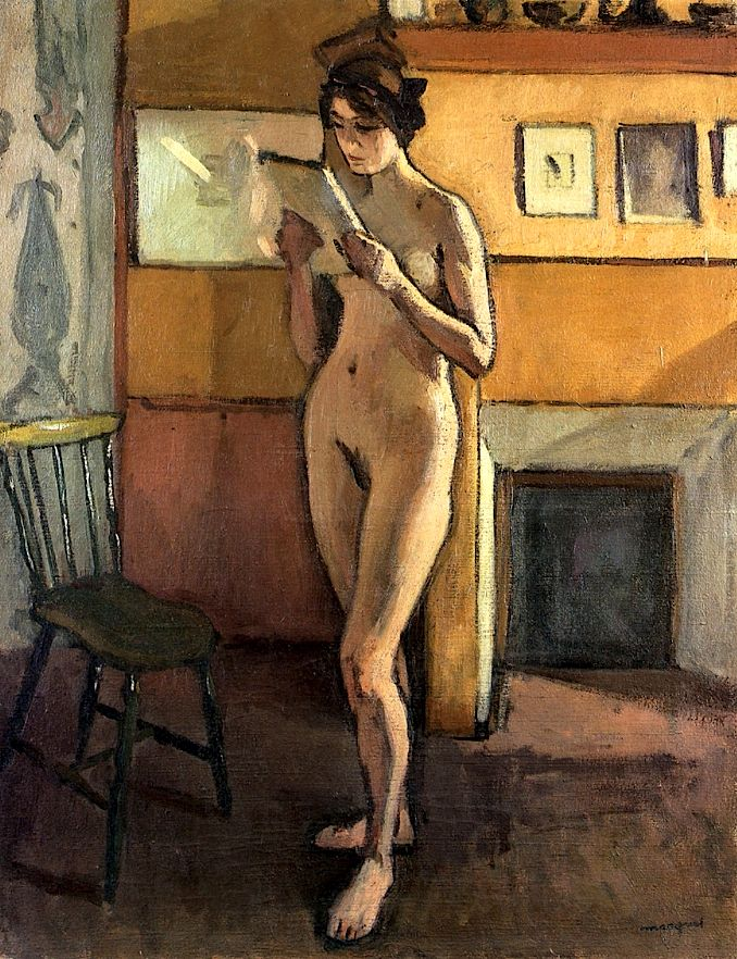 Nude by the Fireplace / Albert Marquet - circa 1913