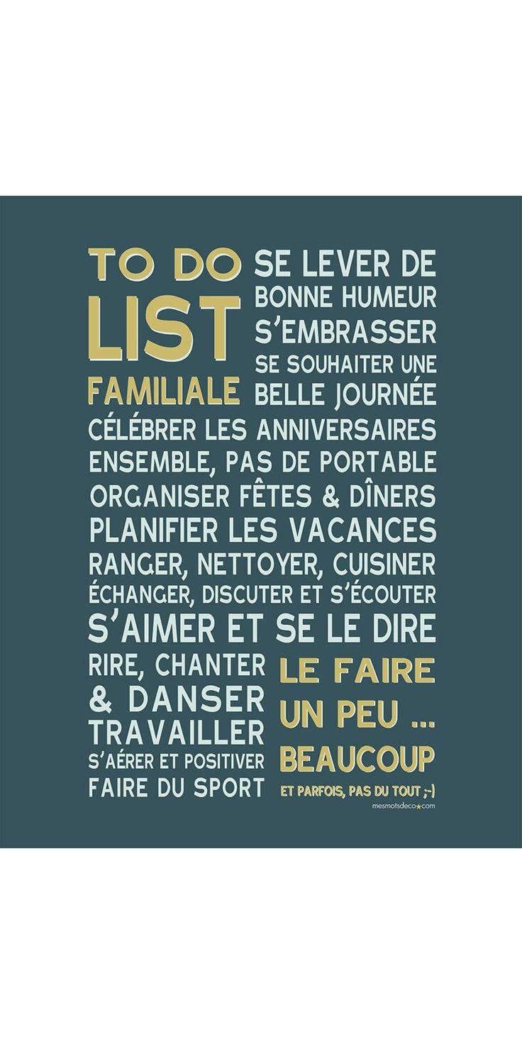 Poster To Do à encadrer - bleu canard-safran