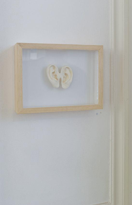Sylvie RONFLETTE - Série 1 Situation 4, Synthetic plaster in wood frame, 19 x 26 x 5 cm, unique (variations)