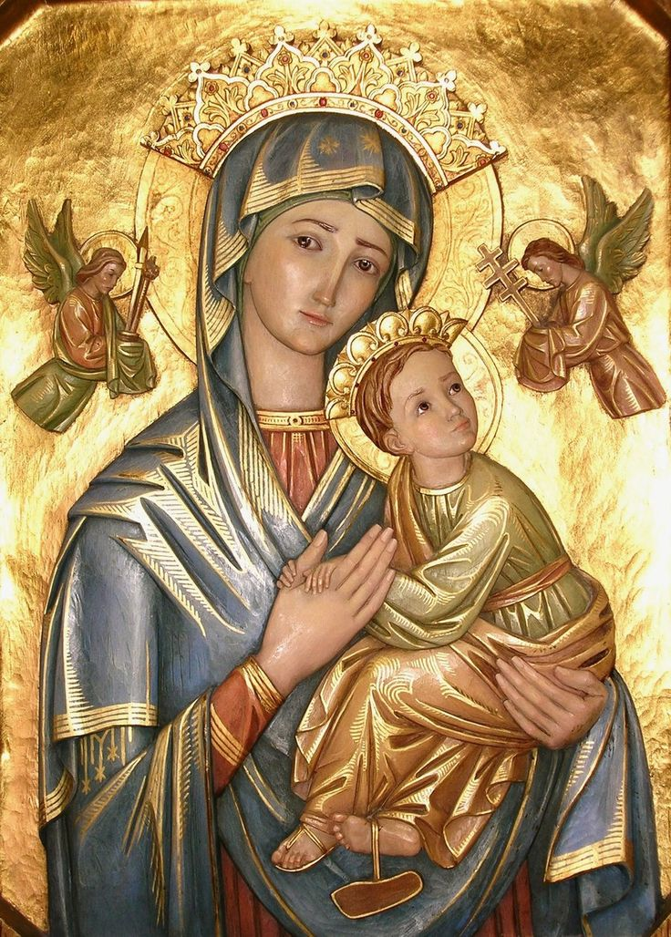 Our Lady of Perpetual Help (this is so precious...i love how they're holding hands) <3