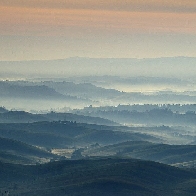 land of Chianni (Toscana, Italy) in the sunrise