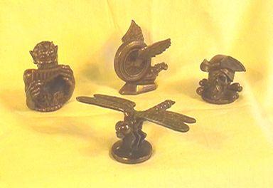 Various radiator mascots - bronze