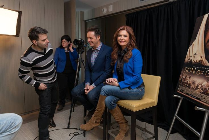 Here's a photo taken just before our interview with Mark Burnett & Roma Downey began - Sheldon Neil chatted with them about their new film, Son Of God. See the full interview here: https://www.youtube.com/watch?list=PL9DLSKu7q0q9oyXUNvn_de06kfHCXPlM9&v=zZHfEfOHBpo