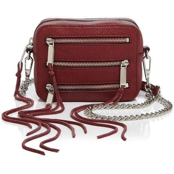 Rebecca Minkoff Four-Zip Moto Camera Bag (800 RON) ❤ liked on Polyvore featuring bags, handbags, shoulder bags, rebecca minkoff shoulder bag, red crossbody, crossbody shoulder bags, zipper purse and rebecca minkoff handbags