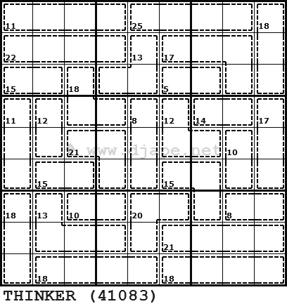 Daily Killer Sudoku puzzles are available here. Warning ...