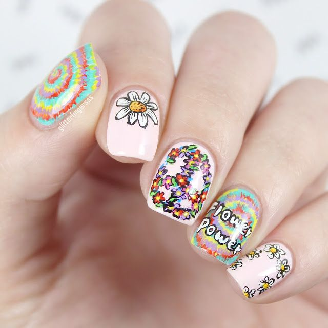 Best 25+ Hippie nails ideas on Pinterest | Hippie nail art ...
