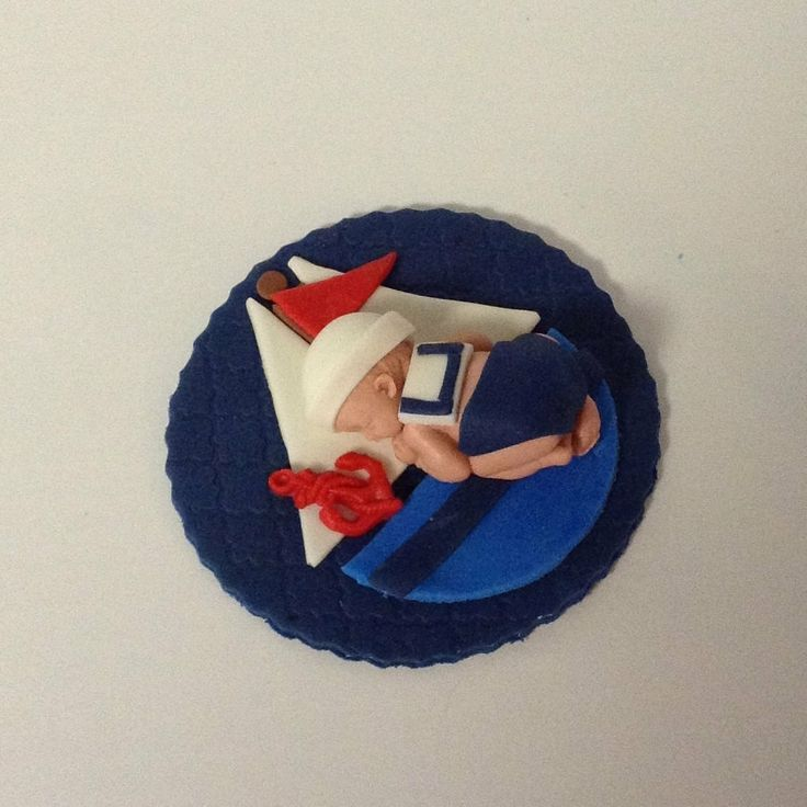 NAUTICAL BABY SHOWER Fondant Cake Topper by BabyCakesByJennifer, $25.00