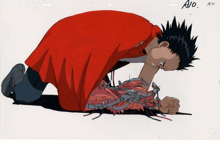 akira Tetsuo Shima frame color line red animation down frame
