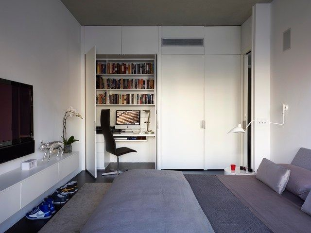 Home office fitted wardrobe installed in the living room by #UrbanWardrobes #London  #decor #homedecor #homeoffice #inspiration #furniture #fittedwardrobes #interior #interiors #design #designer