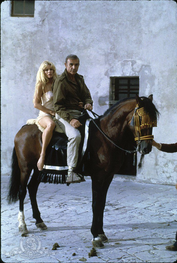 "Kim Basinger and Sean Connery in ""Never Say Never Again"" (1983) This James Bond movie is considered ""unofficial"". The true James Bond franchise produced by Eon Productions, producer Cubby Broccoli (1909-1996) and now  by Michael Wilson and Barbara Broccoli."