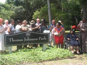 Thomas Johnson Park Dedication on James Island, SC in the Gullah/Geechee Nation