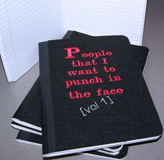 People I want to punch in the Face   Embroidered Blank by MTspaces, $10.00
