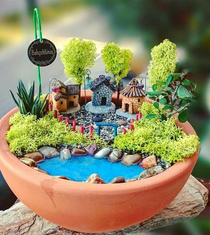 Открытка мини-сад
