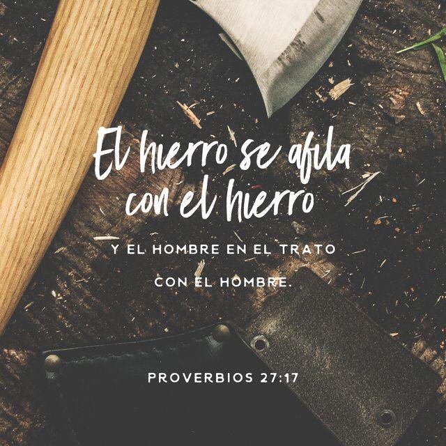 Proverbios 27:17