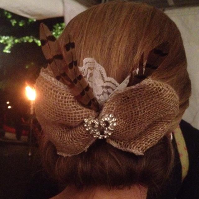 Wedding Hair Piece For Outdoor Rustic Reception Future