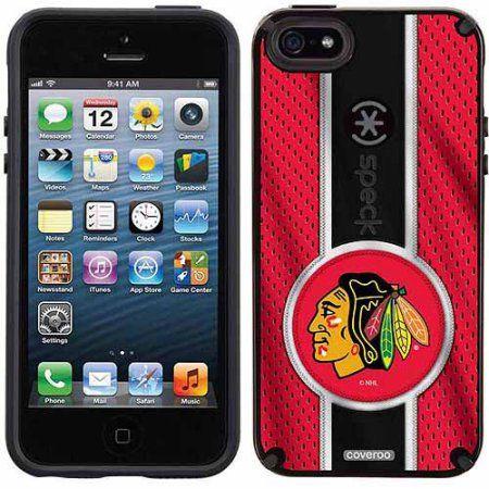 Chicago Blackhawks Jersey Stripe Design on Apple iPhone 5SE/5s CandyShell Case by Speck