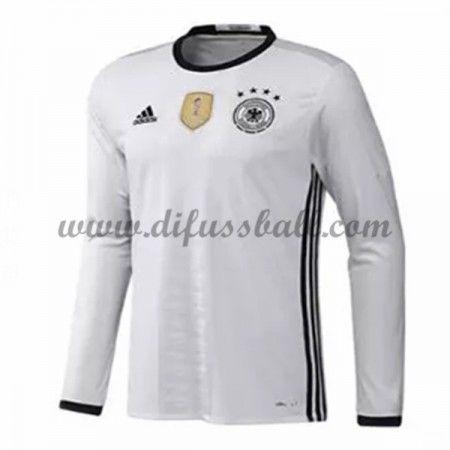 Nationaltrikot Deutschland 2016 Langarm Heim Fußballtrikots